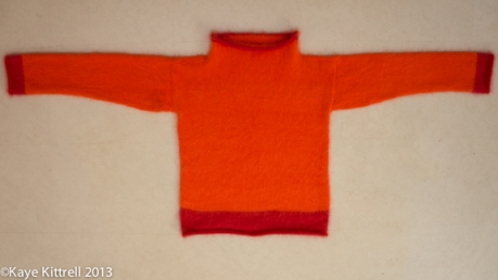 Seriously-flawed kand knit angora sweater ©Kaye Kittrell