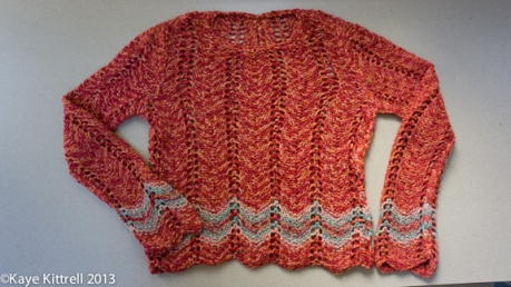 Red sweater by Kaye Kittrell